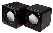 Колонки 2.0 JEDEL JD-CK4 USB + 3.5mm, 2x3W, 90Hz- 20KHz, з регулятором гучності, Black, BOX, Q80