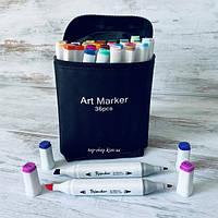 Набор маркеров для скетчинга двусторонние Touch для рисования на спиртовой основе 36 штук