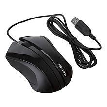Миша дротова T532, 3 кнопки, 1200 DPI, 1,5м, Win7 / 8/10 Mac OS, Black, COLOR BOX (138 * 56 * 192) 0.23 кг