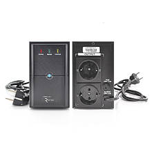 ДБЖ Ritar E-RTM850 (510W) ELF-L, LED, AVR, 2st, 2xSCHUKO socket, 1x12V9Ah, metal Case  Q4 (370*130*210)  5,8кг (310*85*140)