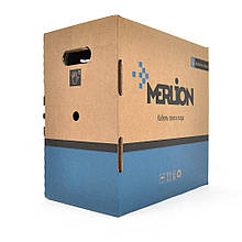 Кабель MERLION КПП-ВП  4*2*0,48 (UTP-cat.5E-SL), СU, оболонка ПЕ, для нар. робіт, 305 м.