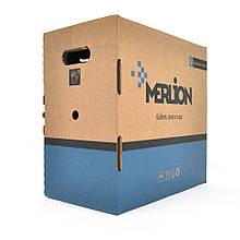 Кабель MERLION КПП-ВП 4*2*0,50 (UTP-cat.5E), СU, оболонка ПЕ, для нар. робіт, 305 м.
