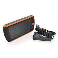 Power bank 23000 mAh Solar For Laptop, (5V / 200mA), 2xUSB, 5V / 1A / 2,1A, For Laptop charger, ударо захищений прогумований корпус, Black, Corton BOX