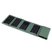 Power bank 8000 mAh Solar, (5V / 200mA), 2xUSB, 5V / 1A / 2,1A, USB  microUSB, ударо захищений прогумований корпус, White, Corton BOX