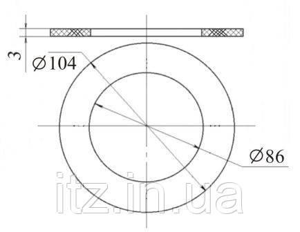 Ущільнення випускного клапана цистерни 1443.07.003 (422.020.015)