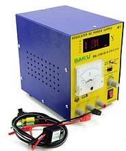 Блок живлення з цифровою індикацією BAKKU BK 1501D (15 вольт 1 ампер, захист від кз)