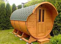 Уютная баня-бочка под ключ
