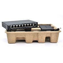 Комутатор POE 48V Mercury S109PS 8 портів POE + 1 порт Ethernet (Uplink) 10/100 Мбіт / сек, БП в комплекті, BOX Q200 (258 * 196 * 66) 0,72 кг (158 *