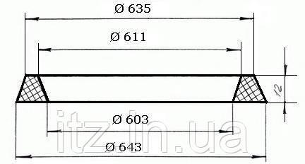 Прокладка заливной горловины цистерн 189.15.00.000 (323-07РТМ32ЦВ206-87)
