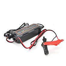 Автомобільний зарядний пристрій MERLION-BYGD 6V / 12V 5А, c індикацією, AC 200V-240V, DC 6V-12V / 0.9A + крокоділли