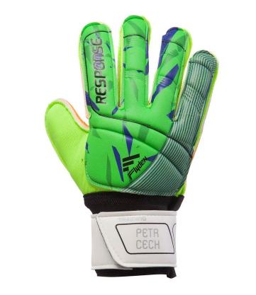 Перчатки вратарские юниорские 508B RESPONSE р-6 с защитными вставками, зеленый