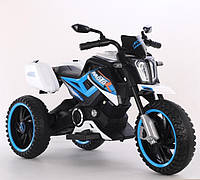 Детский электромобиль мотоцикл трицикл T-7232 Blue синий с MP3