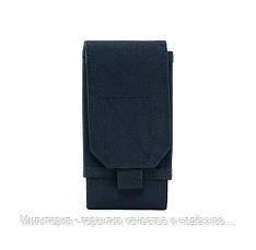 Подсумок для телефона Черный. Сумка на пояс для телефона с диагональю от 5 до 7.2 (0101-black), фото 2