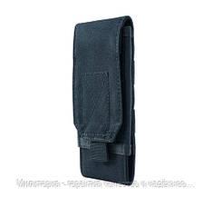 Подсумок для телефона Черный. Сумка на пояс для телефона с диагональю от 5 до 7.2 (0101-black), фото 3