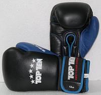 """Боксерские перчатки TopTen """"Sandwich"""" 12oz черно-синие"""