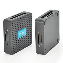Кардрідер універсальний USB 3.0 HDH-939 SD / MMC / MS / TF / M2, USB2.0, Black, Блистер