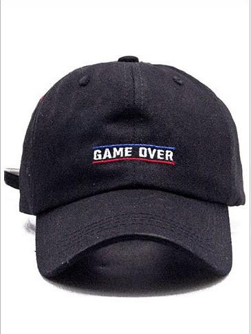 Бейсболка game over головные уборы кепка панамка