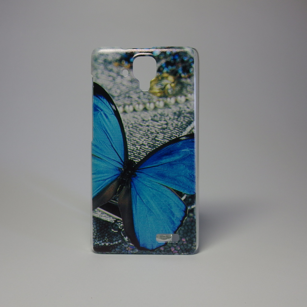 Чехол для lenovo a536 панель накладка с рисунком бабочка