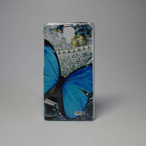 Чехол для lenovo a536 панель накладка с рисунком бабочка, фото 2