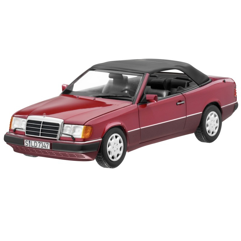 Модель Mercedes-Benz 300 CE-24 Cabriolet A124 (1992-1993), Almandine Red Metallic, 1:18 Scale, B66040616
