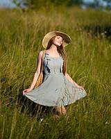 Модный легкий женский сарафан на лето из натуральной ткани