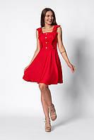 Модний легкий жіночий сарафан на літо з натуральної тканини червоний
