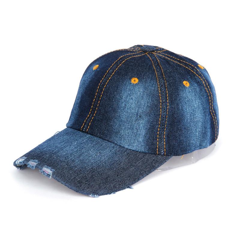Джинсова бейсболка модная кепка