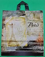 """Пакет поліетиленовий з петлевою ручкою ср п """"БК Париж"""" (38х42) 90мк ДПА (50 шт), фото 1"""