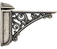 Полкодержатель регулируемый L=125 мм античное серебро