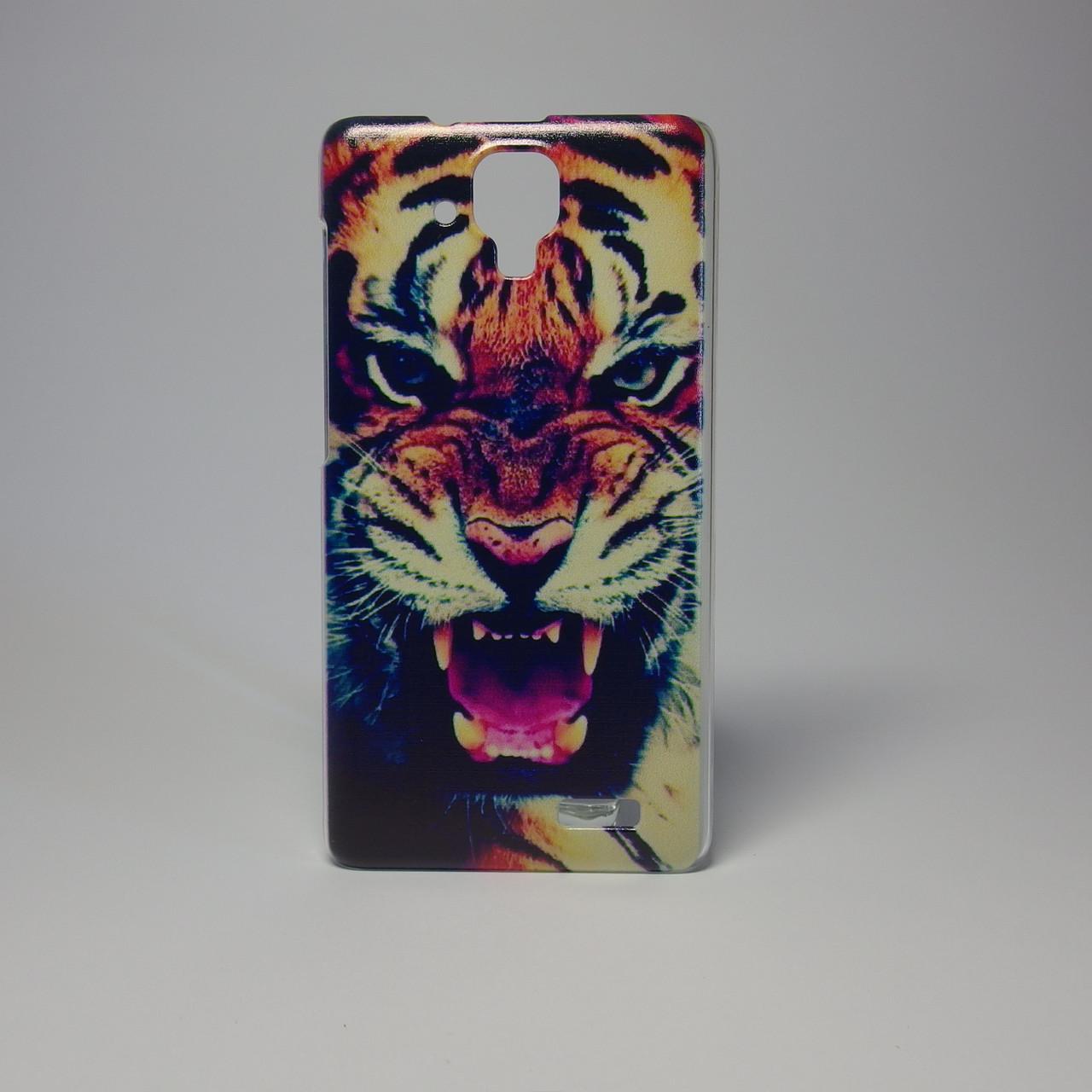 Чохол для lenovo a536 панель накладка з малюнком тигр