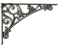 Полкодержатель L=200 мм античное серебро