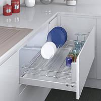 Сушкa для посуды выдвижная с доводчиком 600 мм