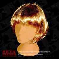 Парик Каре золотистый из искусственных волос.