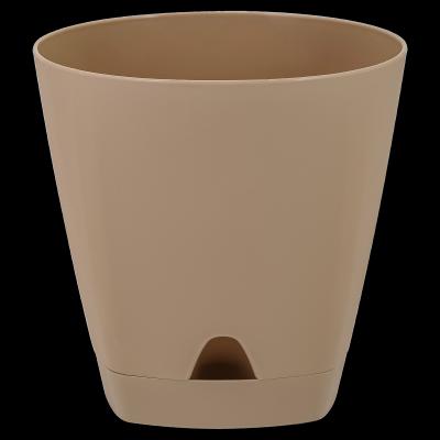 Горшок для цветов AMSTERDAM D 170 с прикорневыми поливом 2,5 л Молочный Шоколад, фото 2