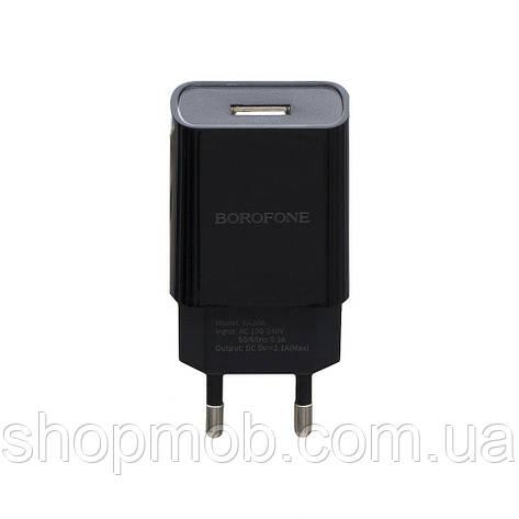 Сетевые зарядные устройства для телефонов Borofone BA20A Lightning 1USB 2.1A Цвет Чёрный, фото 2