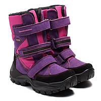 Зимние сапожки Аллигаша, на липучках для девочки, размер 30-35