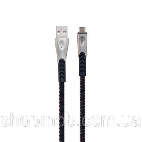 USB кабель для зарядки Hoco U48 Superior Speed Micro Цвет Чёрный, фото 2