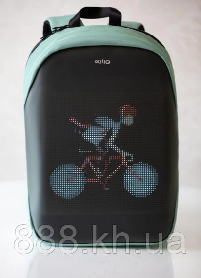 Рюкзак с активным LED экраном Jastle (Водостойкий, Антивор, Жесткая Конструкция)