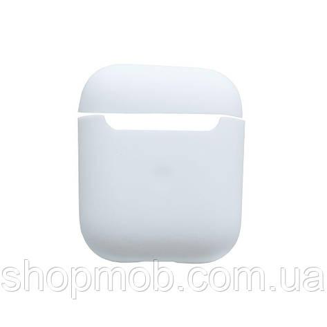 Футляр для наушников Airpod 2 Slim Цвет 02,White, фото 2