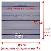 Экономпанель 100 х 122 х 1.6 см Вертикальная, Белая