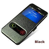 Кожаный чехол книжка для Lenovo K3 чёрный, фото 1