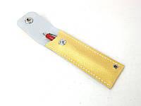 Кожаный чехол на ручку ручной работы Tsar.store в золотом цвете с ручным швом