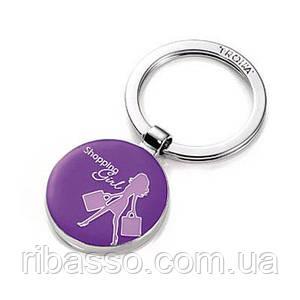 Брелок Shopping girl, фиолетовый