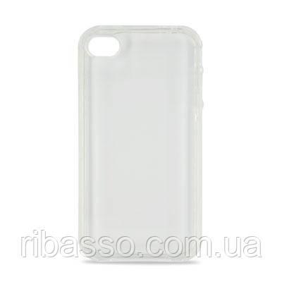 "Hi-Fun Гибкий чехол для iPhone 4G ""Пластика"", белый"