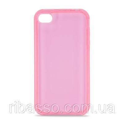 "Hi-Fun Гибкий чехол для iPhone 4G ""Пластика"", розовый"