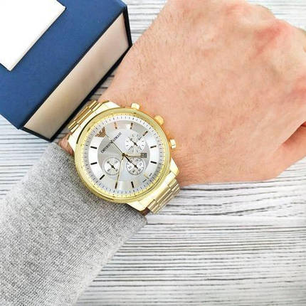 Наручные часы Emporio Armani B134 Gold-Silver, фото 2