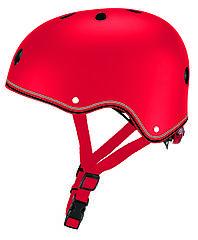 Защитный детский шлем Globber красный с фонариком 48-53см (XS/S) 505-102