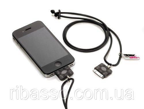 Troika Шнурок для iPhone 4/4S MUSE, черно-серый