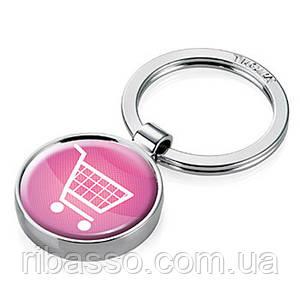 Брелок Shopping, розовый