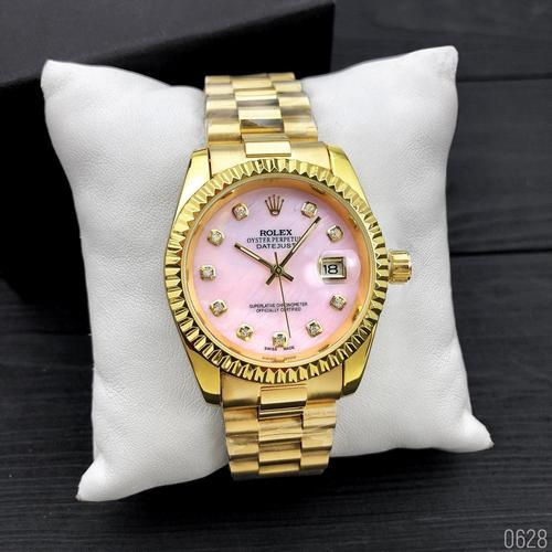 Наручные часы Rolex Date Just Gold-Pink Pearl